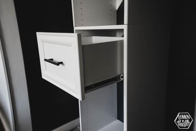 Build it yourself closet organizer