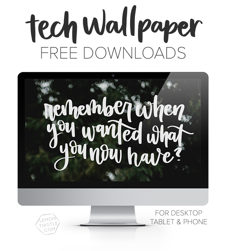 mockup of desktop background with text overlay: tech wallpaper - free downloads