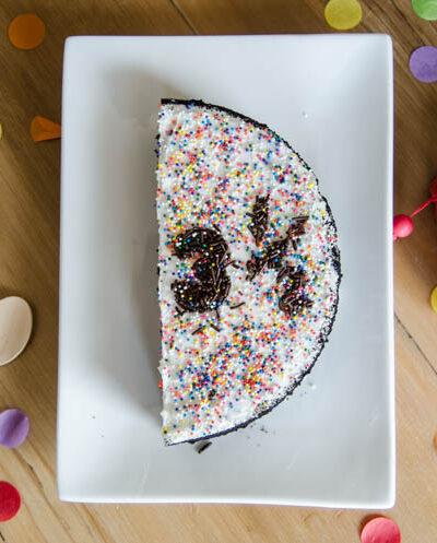A half cake for a half birthday tradition!
