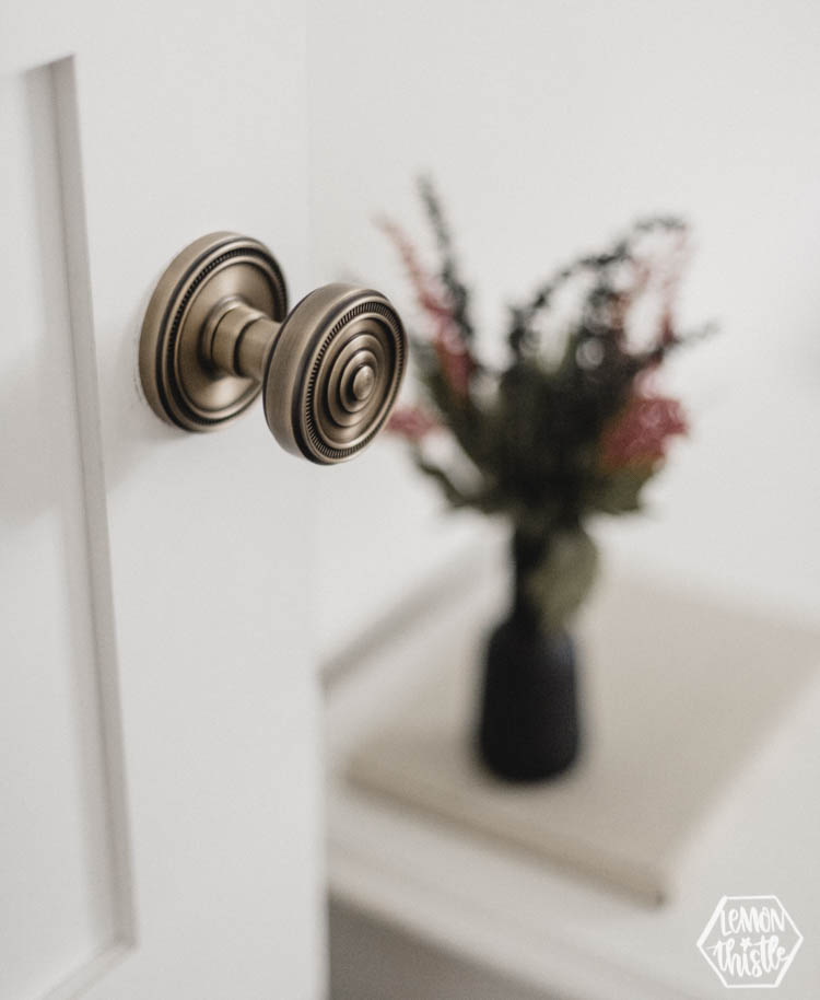 Cute kids room - beautiful brass door knob