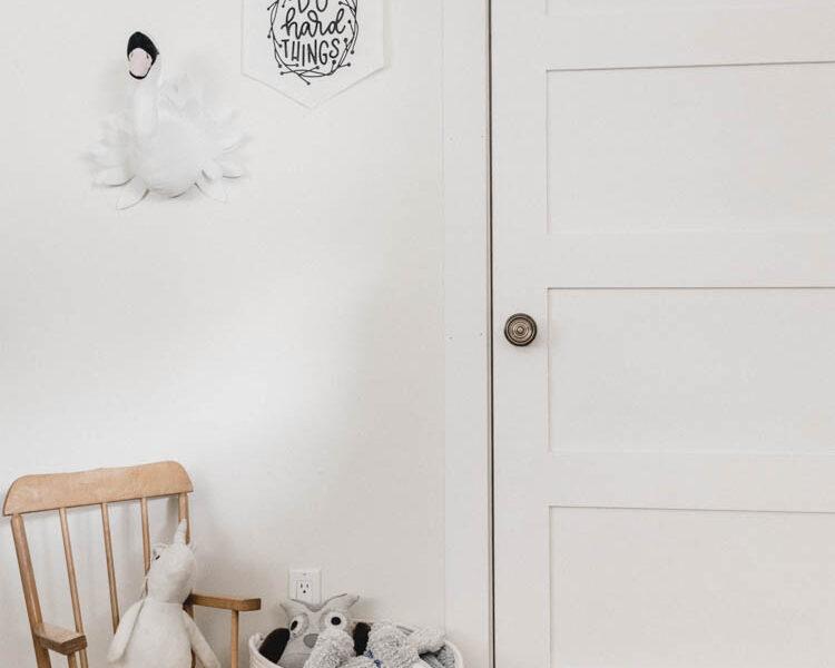 Cute kids room - beautiful brass door knob