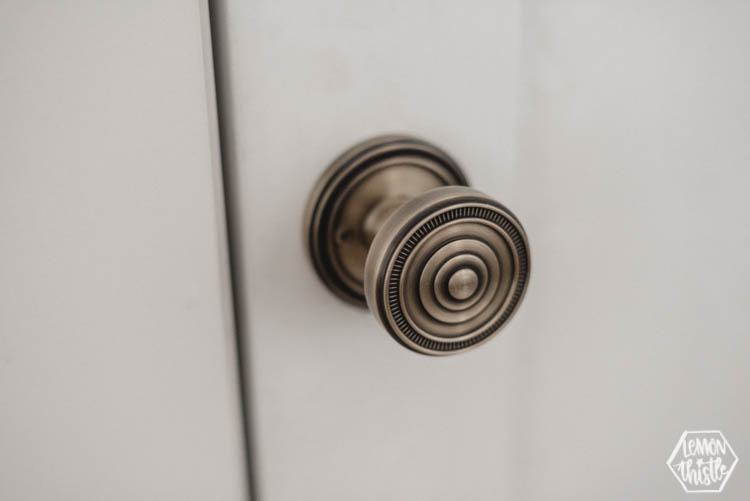 intricate vintage brass door knob