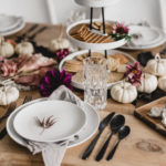 Organic Modern Thanksgiving Tablescape