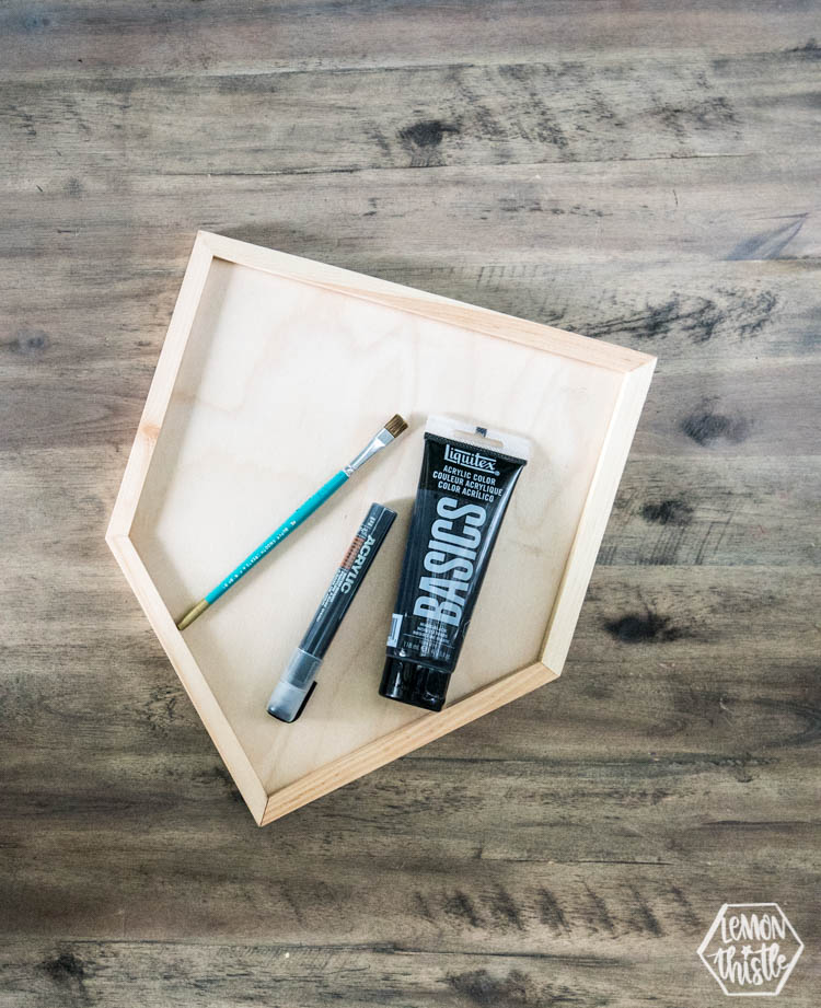 Be Brave Wooden Pennant DIY LT-1809131