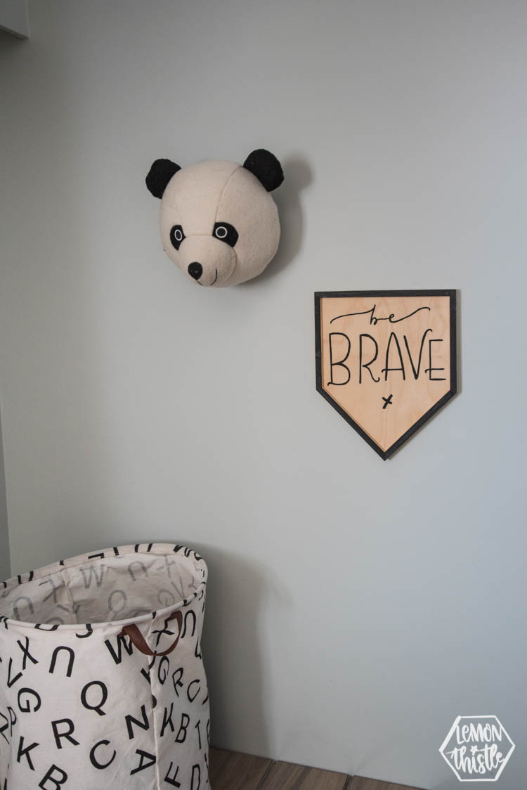 Be Brave Wooden Pennant DIY