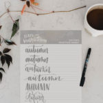 Autumn Hand Lettering Practice Sheet – Free Printable!