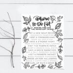 Fall To-Do List – A Bucket List for Autumn