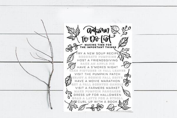 Autumn To do list- bucket list for fall