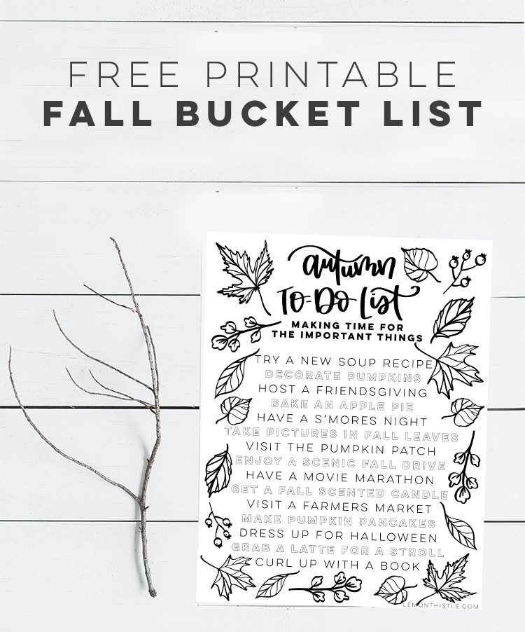 Autumn To do list- bucket list for fall