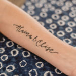 Hand lettered tattoo design by lemon thistle