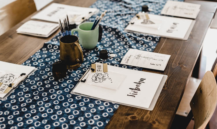 Brush lettering workshops! If you've wanted to learn hand lettering #kamloops