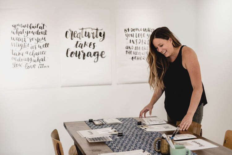 Brush Lettering Workshops Recap