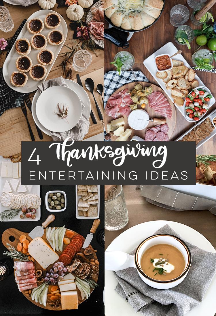 4 beautiful thanksgiving entertaining ideas