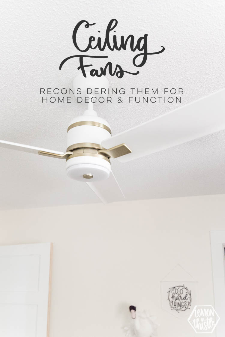 Ceiling fans- reconsidering them for home decor and function
