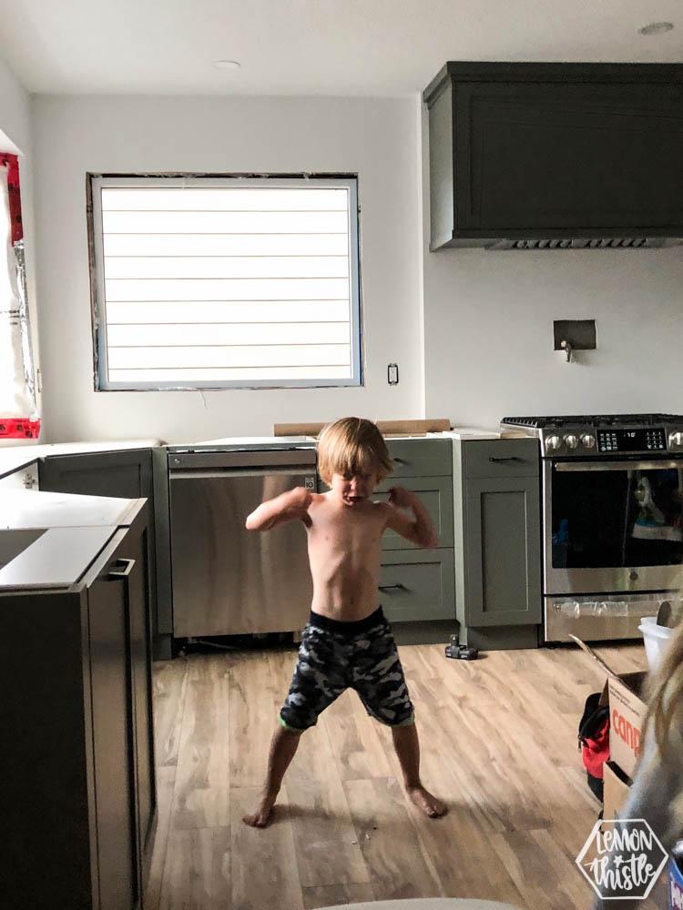 Kitchen Remodel UPDATE -flooring is in!