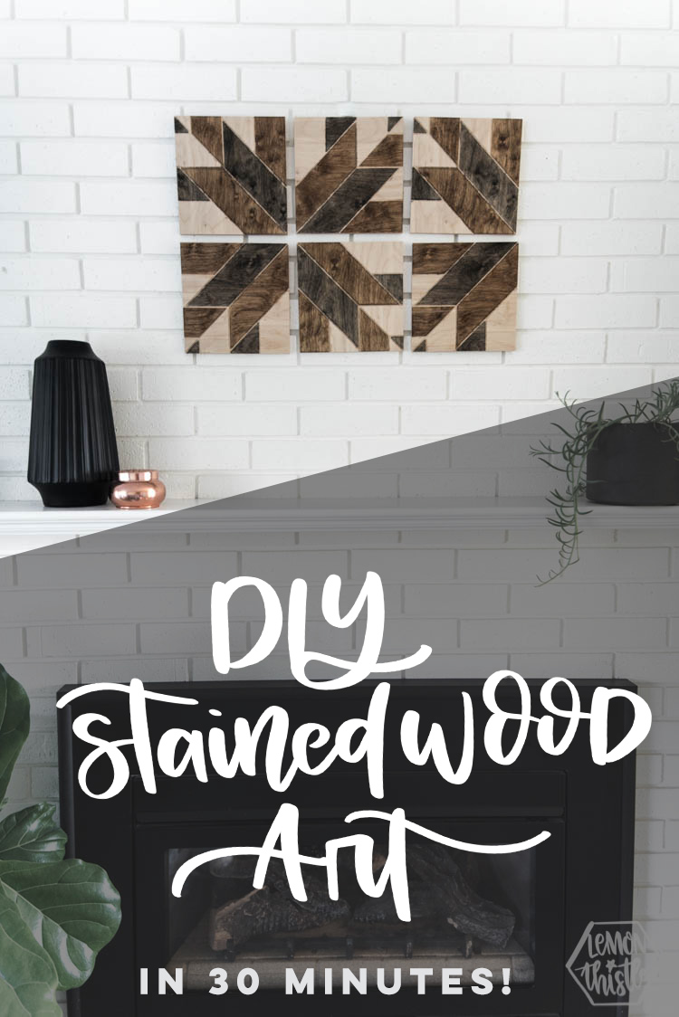 DIY Stained Wood Art- with wooden quilt blocks