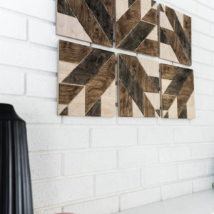 30 MINUTE DIY Stained Wood Art- with wooden quilt blocks