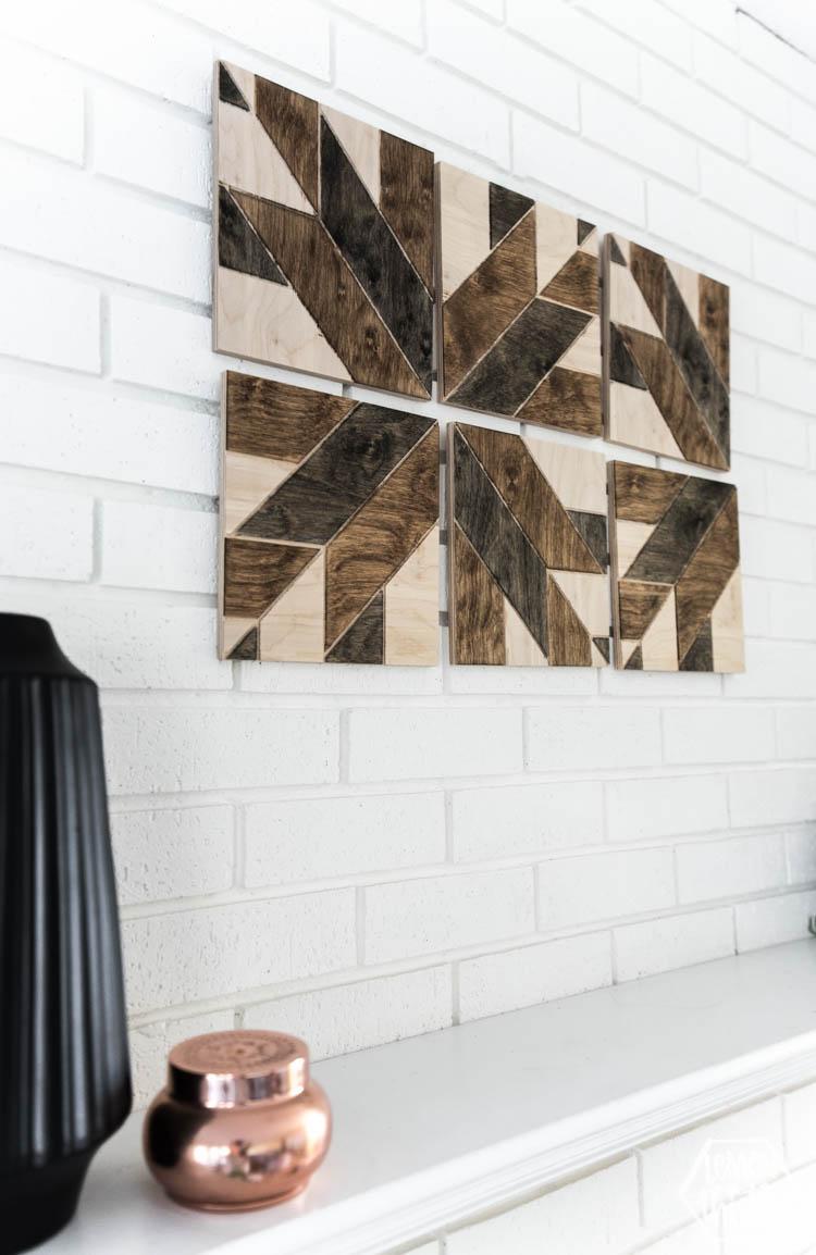 Diy Geometric Wood Art In 30 Minutes Lemon Thistle