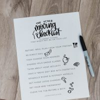 FREE PRINTABLE Moving Checklist - 10 other things to remember