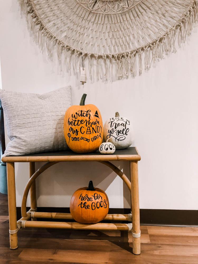 Halloween Hand Lettered Pumpkins