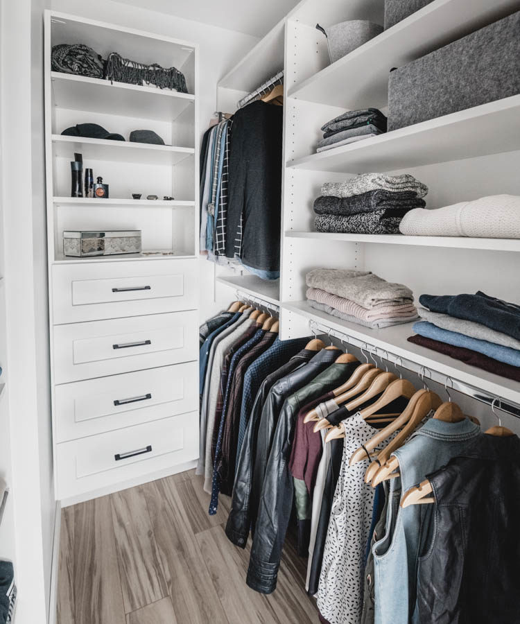 So many great tips on how to maximize storage in a small walk in closet! Master Closet Makeover - Before and After