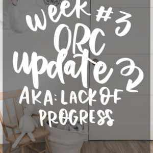 DIY renoation realities- week 3 ORC update