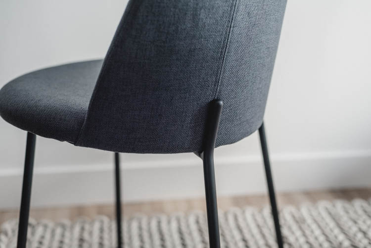 Perfect modern fabric dining chair