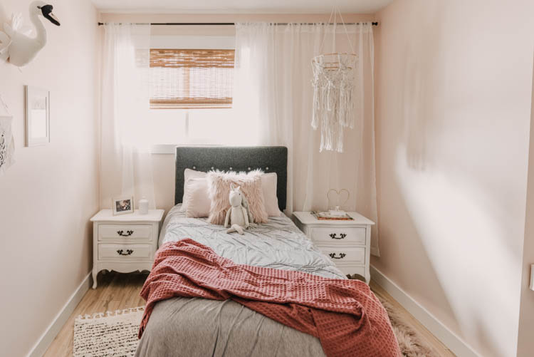 Little Girls Pink Bedroom full of DIY touches