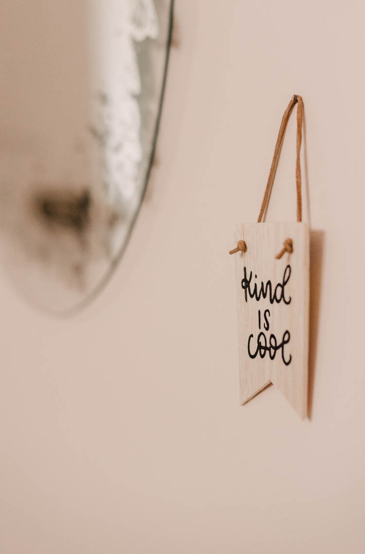 Kind is Cool mini wooden pennant DIY