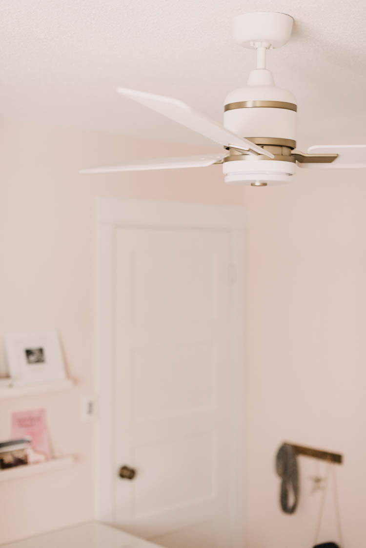 Ceiling fan in kids bedroom