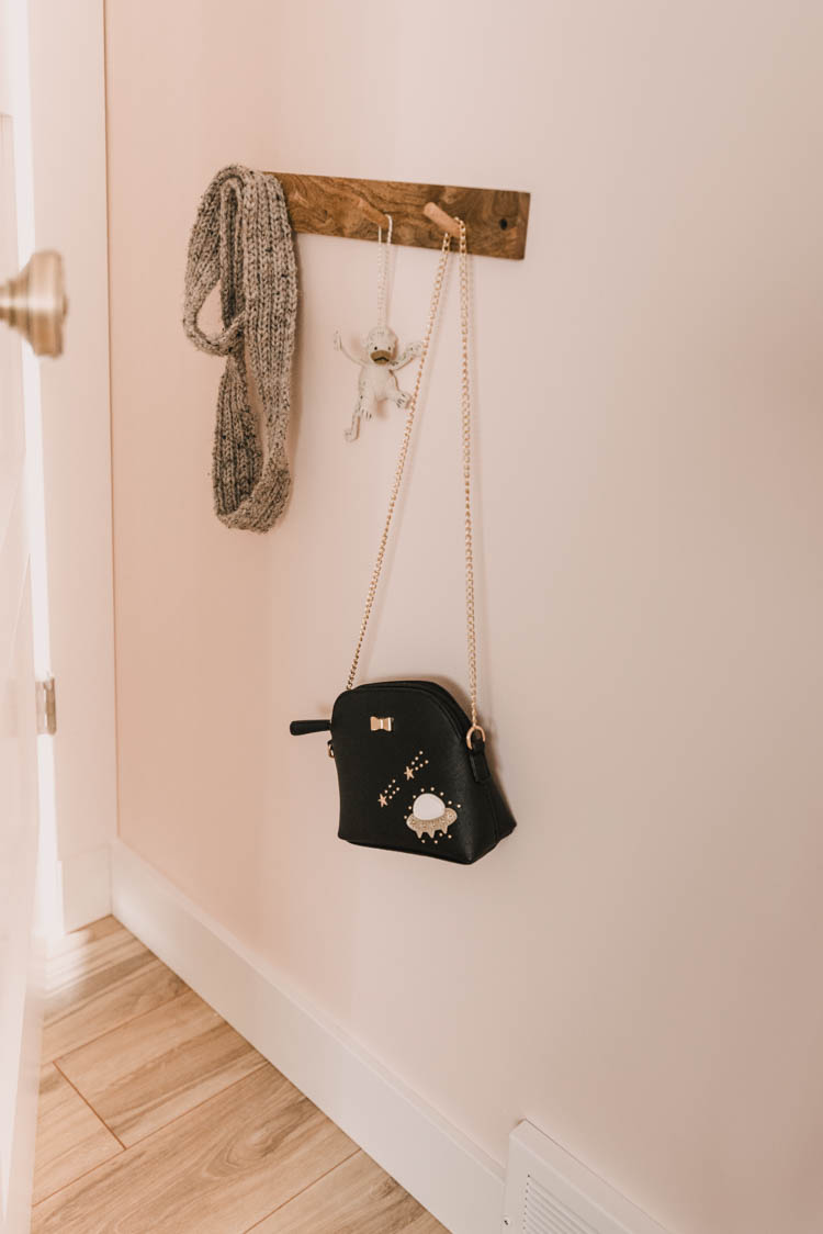Sweet $5 coat rack for a kids room!