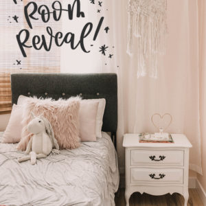 Pretty In Pink Room Reveal - Girls Bedroom