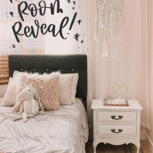 Pretty In Pink Room Reveal - Girls Bedroom