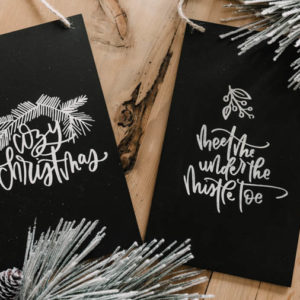 DIY Faux Chalkboard Signs & Cozy Christmas Hand Lettered SVG Bundle!