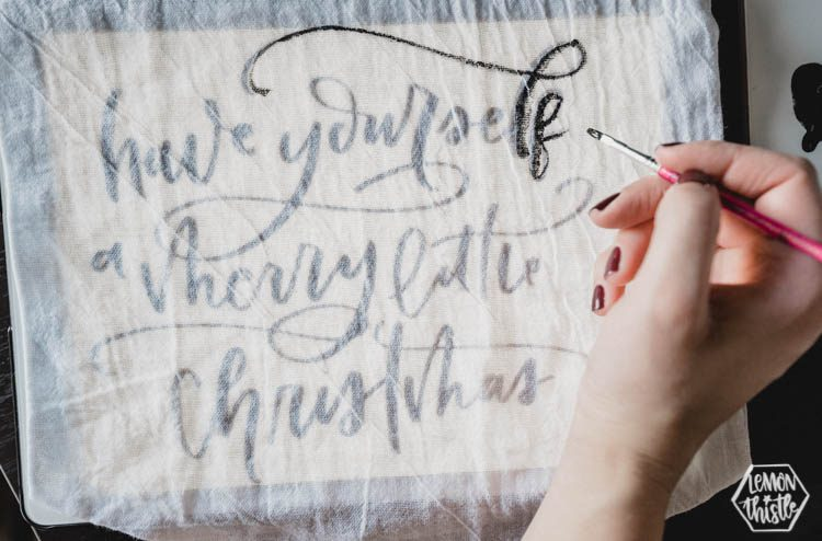 DIY Hand Lettered Pennants for the holidays