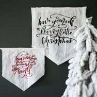 Holiday DIY Pennants- two ways to make them