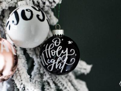 DIY Handlettered Ornaments- 3 ways to make them