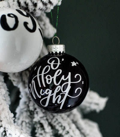 DIY Handlettered Ornaments- 3 ways to make them