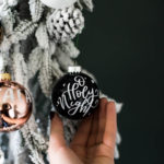 Vinyl Transfer Calligraphy Ornaments DIY Tutorial
