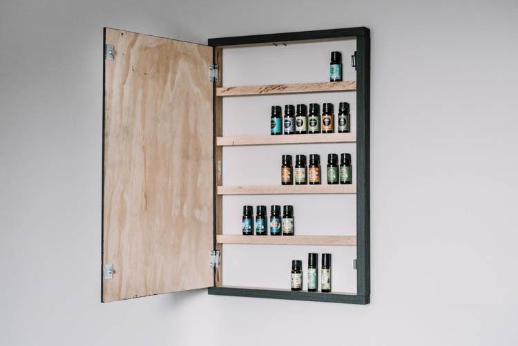 DIY Hidden Essential Oils Storage- Wood Sign!
