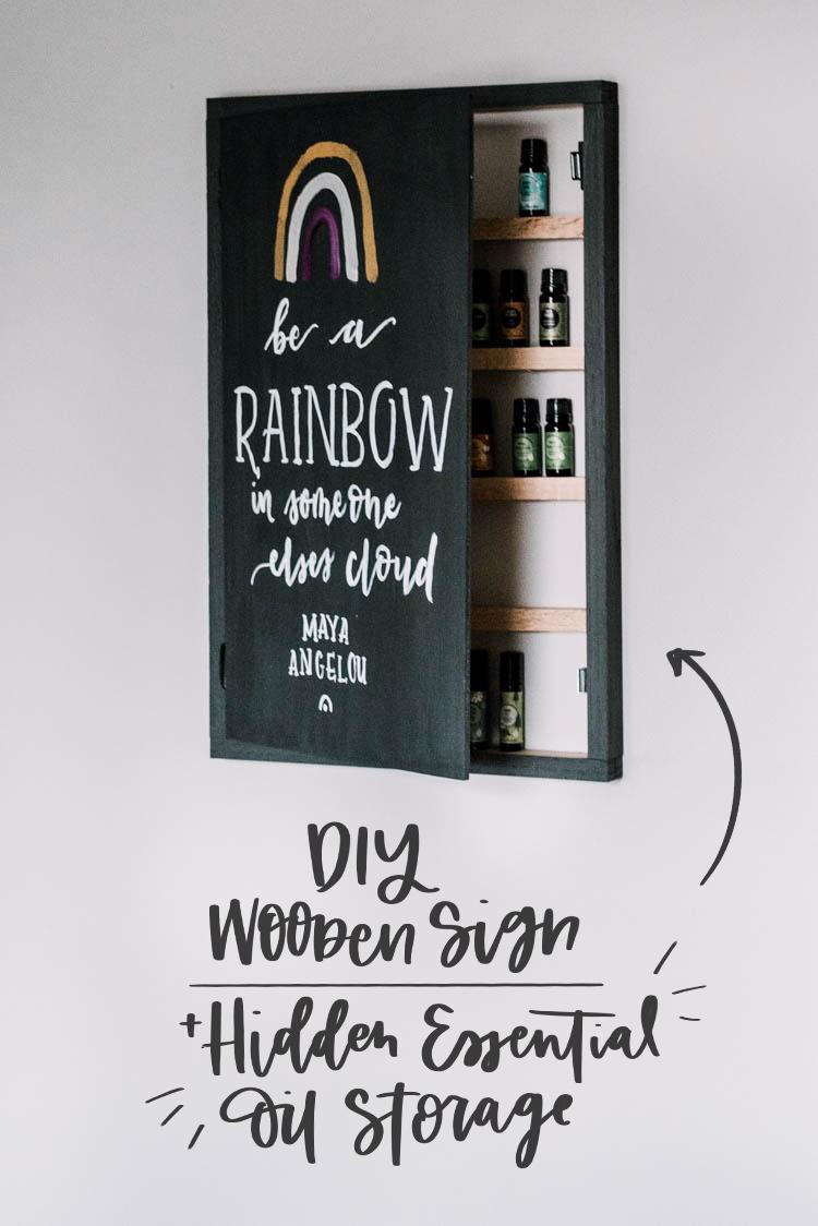 Diy Wooden Sign Hidden Essential Oil Storage Free Plans Lemon Thistle