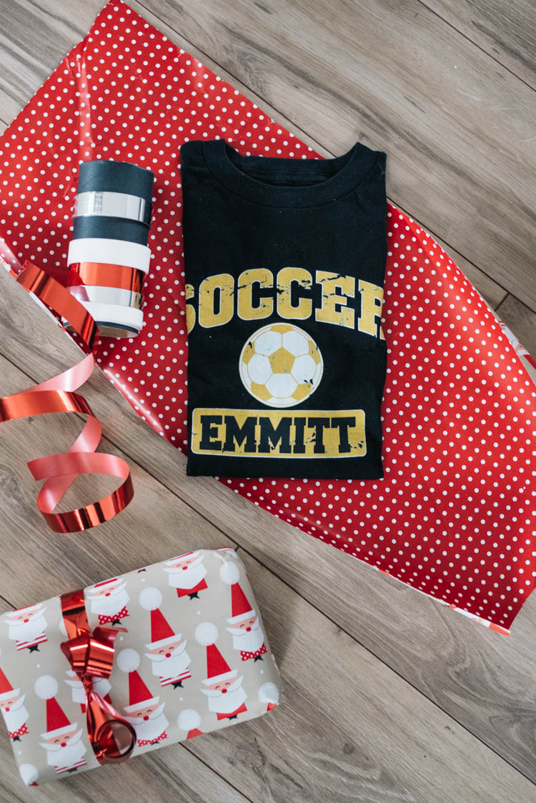 Personalized soccer shirt- so fun!