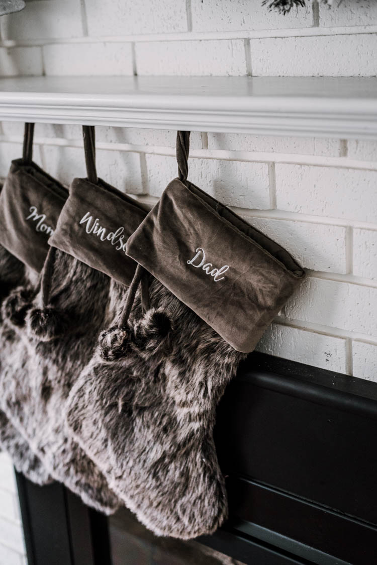 Personalized fur christmas stockings