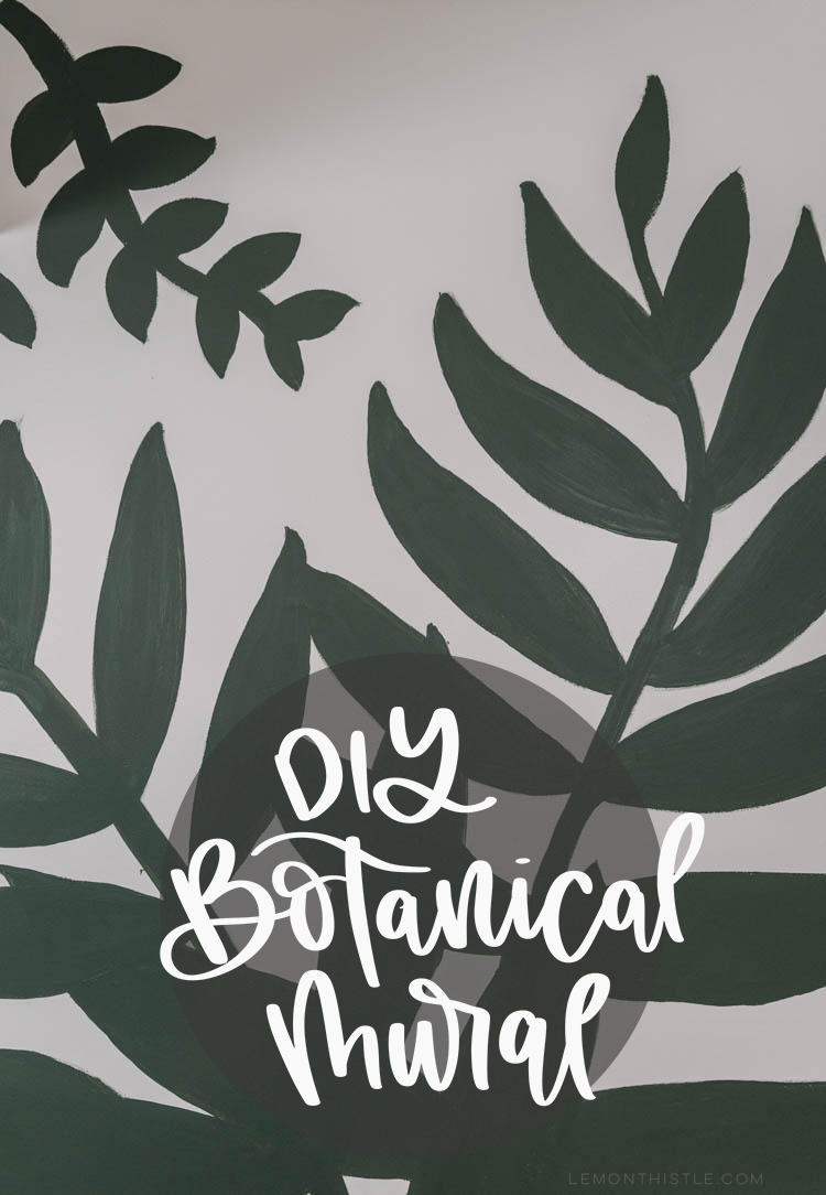 DIY Botanical Mural - a simple version with a timelapse video of the process. Good tips for a beginner too!