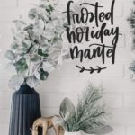 Simple Frosted Holiday Mantel