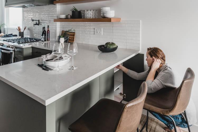 Hidden kitchen cabinet instead of corner cabinet
