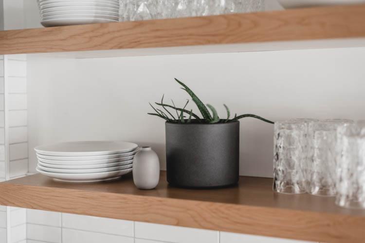 Practical kitchen shelf styling!