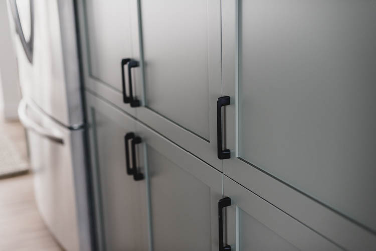 North Dalston Matte Black Cabinet pulls... love how sleek these are!