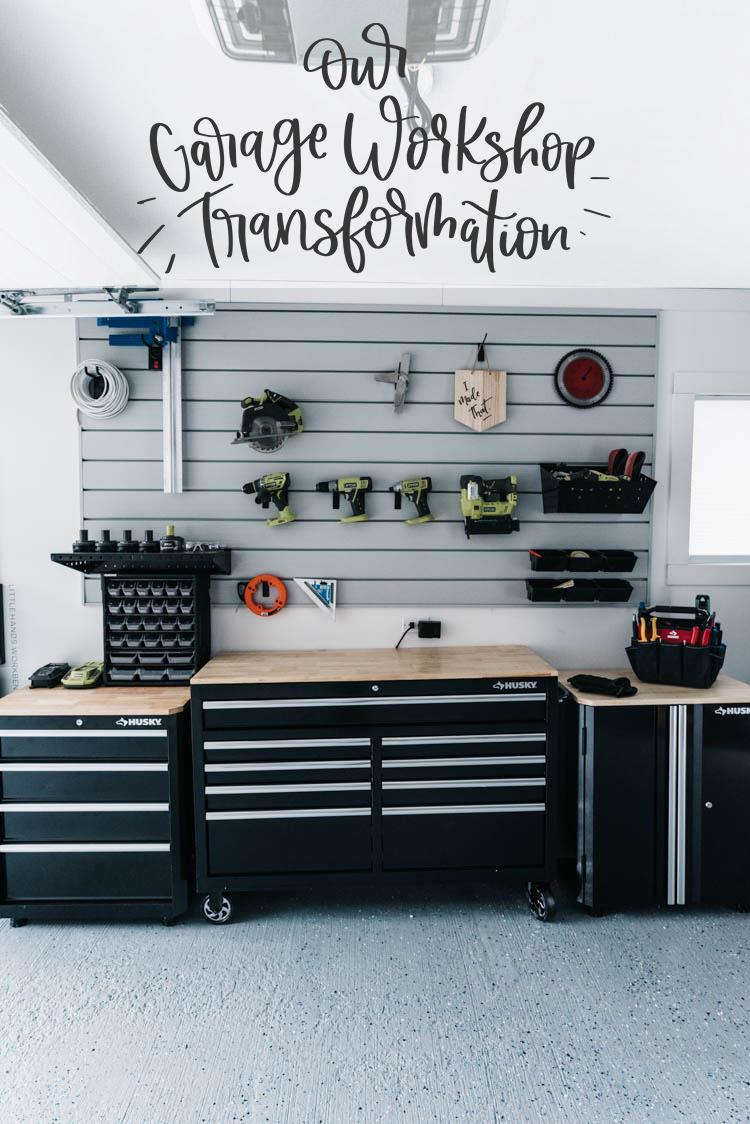 Garage Workshop Transformation - before and after + details