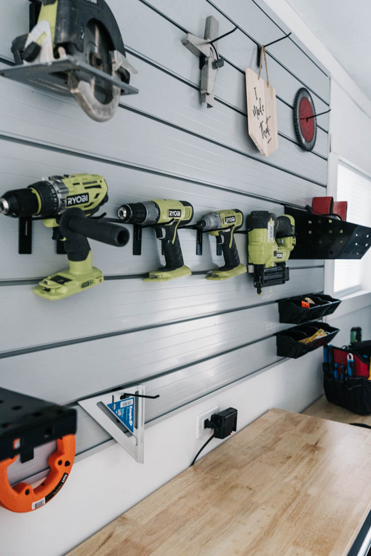 Track Wall for Tool Storage